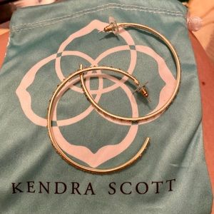Kendra Scott hoops with crystal accents
